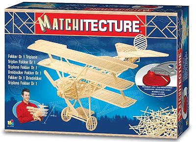 Bojeux Fokker Dr I Triplane (1050pcs) -- Wooden Construction Kit -- #6610