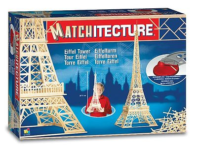 Bojeux Eiffel Tower (Paris, France) (1150pcs) -- Wooden Construction Kit -- #6611