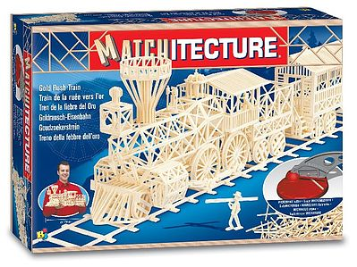 Bojeux Gold Rush Train (1800pcs) -- Wooden Construction Kit -- #6613