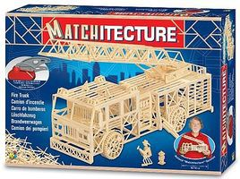 Bojeux Ladder Fire Truck (1500pcs) Wooden Construction Kit #6615