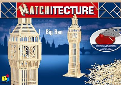 Bojeux Big Ben (London, England) -- Wooden Construction Kit -- #6618