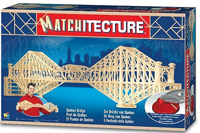 Bojeux Quebec Bridge (Canada) (2150pcs) -- Wooden Construction Kit -- #6620