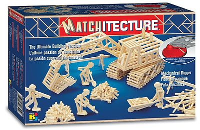 Bojeux Mechanical Digger (500pcs) -- Wooden Construction Kit -- #6641