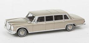 Berkina Mercedes Benz 600 Limousine Assembled Gold Model Railroad Vehicle HO Scale #13004