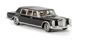 Berkina Mercedes Benz 600 Landaulet Limo Assembled Black Model Railroad Vehicle HO Scale #13010