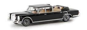 Berkina Mercedes Benz 600 Landaulet Limo Convertible Black Model Railroad Vehicle HO Scale #13013