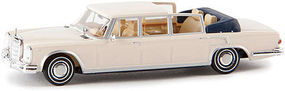 Berkina MB 600 Landaulet White Model Railroad Vehicle HO Scale #13014