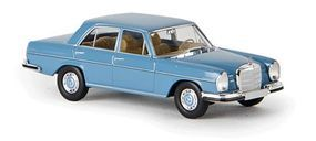 Berkina Mercedes Benz 280 SE Sedan Assembled Pastel Blue Model Railroad Vehicle HO Scale #13100