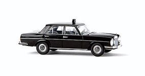 Berkina Mercedes Benz 280 SE Sedan Assembled Taxi (black) Model Railroad Vehicle HO Scale #13108