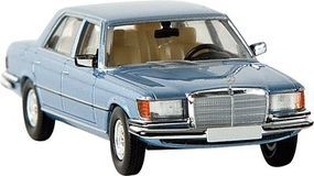 Berkina Mercedes Benz 450 SEL Assembled Metallic Gray Blue Model Railroad Vehicle HO Scale #13156