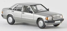 Berkina Mercedes Benz 190 E Sedan Assembled Silver Model Railroad Vehicle HO Scale #13205