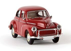 Berkina 1948-1971 Morris Minor Sedan Assembled Ruby Red Model Railroad Vehicle HO Scale #15208