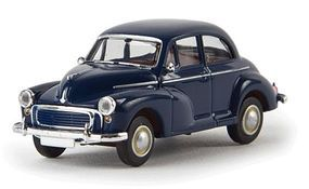 Berkina 1948-1971 Morris Minor Sedan Assembled Cobalt Blue Model Railroad Vehicle HO Scale #15209