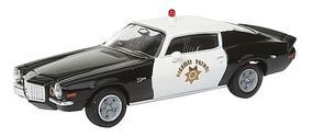 Berkina 1972 Chevrolet Camaro Z28 Assembled Black & White Model Railroad Vehicle HO Scale #19905