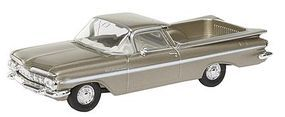 Berkina 1959 Chevrolet El Camino Assembled Gold Model Railroad Vehicle HO Scale #19939