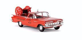 Berkina 1959 Chevrolet El Camino Assembled Red & Gold Model Railroad Vehicle HO Scale #19940