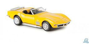 Berkina Corvette C3 Cabrio Yellow HO Scale Model Railroad Vehicle #19981