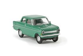 Berkina 1962 Opel Kadett A Sedan Assembled Drummer Green Model Railroad Vehicle HO-Scale #20307
