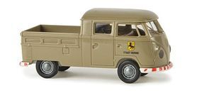 Berkina Volkswagen Pritsche T1b Crew Cab Assembled Beige Model Railroad Vehicle HO Scale #32817