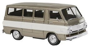 Berkina 1964 Dodge A 100 Passenger Van Assembled Gray Model Railroad Vehicle HO Scale #34305