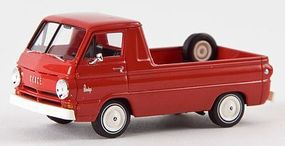 Berkina 1964 Dodge A 100 Pickup Truck Assembled Red Model Railroad Vehicle HO Scale #34327