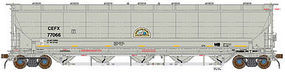BLMS 5660 Pressure Differential Hopper CEFX #77092 N Scale Model Train Freight Car #19014