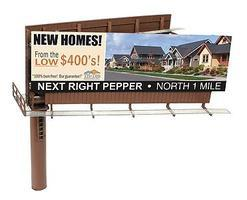BLMS Modern Dual-Sided Billboard HO Scale Model Railroad Billboard Sign #4320