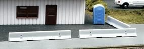 BLMS Concrete K-rail Barrier - 12 pkg N Scale Model Railroad Road Accessory #610