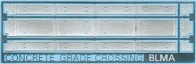 BLMS Modern Grade Crossing Concrete Style N Scale Model Railroad Trackside Accessory #79