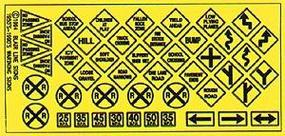 Blair-Line Highway Signs - Warning #2 1948-Present HO Scale Model Railroad Roadway Accessory #106