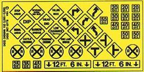 Blair-Line Highway Signs - Warning #3 1948-Present HO Scale Model Railroad Roadway Accessory #107