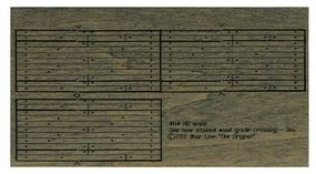 Blair-Line 1-Lane Wood Grade Crossing - Kit HO Scale Model Railroad Trackside Accessory #114