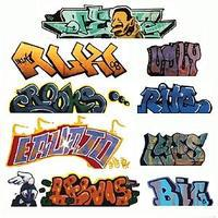 Blair-Line Mega Set Modern Tagger Graffiti Decals - #2 pkg(9) N Scale Model Railroad Decal #1245