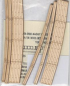 Blair Line Curved 2-Lane Wood Grade Crossing 15'' Radius -- HO Scale Model Railroad Trackside Accessory -- #125