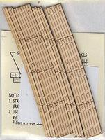 Blair-Line Curved 2-Lane Wood Grade Crossing 30 Radius HO Scale Model Railroad Trackside Accessory #129