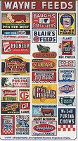 Blair-Line Vintage Feed & Seed Storefront & Advertising Signs HO Scale Model Railroad Signs #135