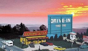 Blair-Line Drive-In Theatre - Kit HO Scale Model Railroad Building #168
