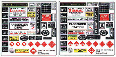 Blair Line RR Station Depot Signs -- O Scale Model Railroad Signs -- #256