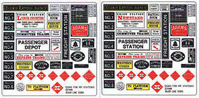 Blair-Line RR Station Depot Signs O Scale Model Railroad Signs #256