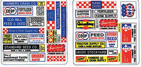 Blair-Line Feed & Seed Store Signs O Scale Model Railroad Billboard Sign #257