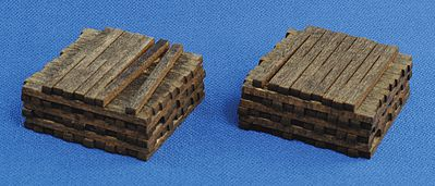 Blair Line Pile O' Ties (Assembled) Stained pkg(2) -- HO Scale Model Railroad Building Acccesory -- #2811