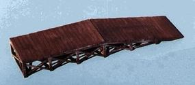 Blair-Line Laser-Cut Wooden Loading Ramp Z Scale Model Railroad Building Accessory #374