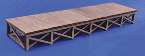 Blair-Line Wood Loading Dock Kit 3/ - N-Scale