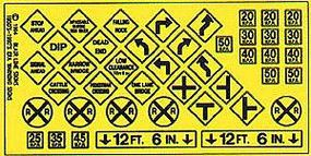 Blair-Line Highway Warning Signs #3 1948-Present N Scale Model Railroad Roadway Accessory #7