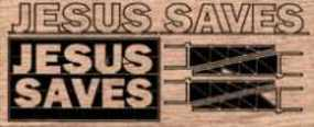 Blair-Line-Signs Jesus Saves N Scale Model Railroad Billboard Sign #1507