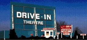 Blair-Line-Signs Drive-In Theatre Kit HO Scale Model Railroad Building #168