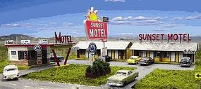 Blair-Line-Signs Sunset Motel Building Kit HO Scale Model Railroad Building #2001