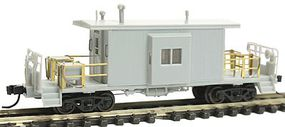 Bluford Short Body Bay Window Caboose - Ready to Run Undecorated - N-Scale