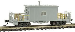 Bluford Steel Transfer Caboose - Ready to Run - Undecorated N Scale Model Train Freight Car #24000