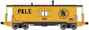 Bluford International Car Half-Bay Window Caboose - Ready to Run Pittsburgh & Lake Erie 501 (yellow, black) - N-Scale